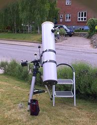 """8"""" Newton teleskop, spejlets brændvidde er 1293 mm"""
